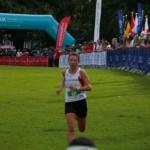 Zieleinlauf Sabine WM Wales